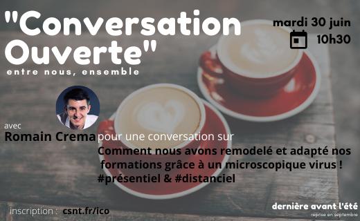 conversation ouverte avec Romain Crema