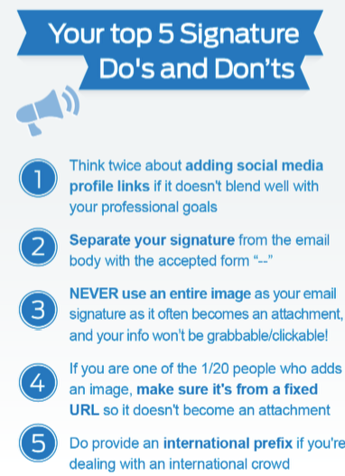 5 tips pour votre signature