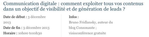 Communication digitale comment exploiter tous vos contenus dans un objectif de visibilité et de génération de leads - Ecommerce-Live.net Visioconférences