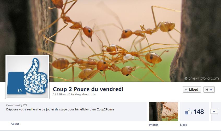 Page  Coup 2 Pouce du Vendredi sur Facebook