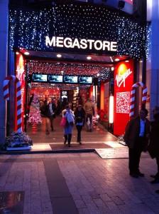 Entrée du magasin Virgin Mégastore