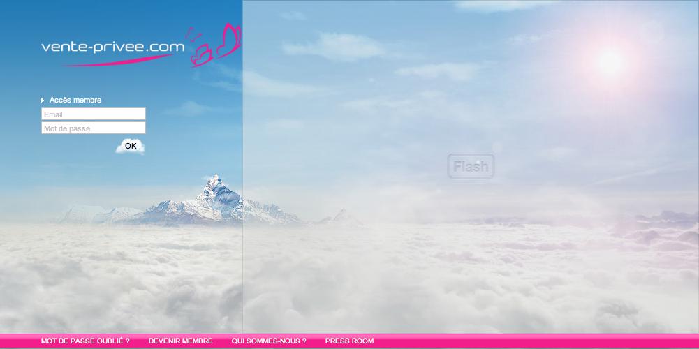 Home Page de  Vente-Privee.com