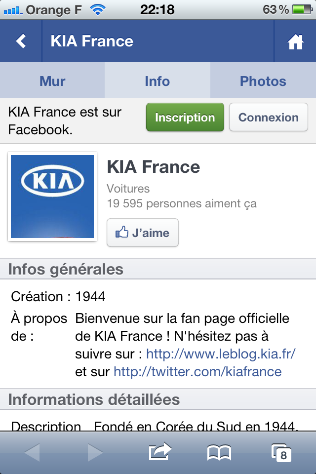Kia site mobile
