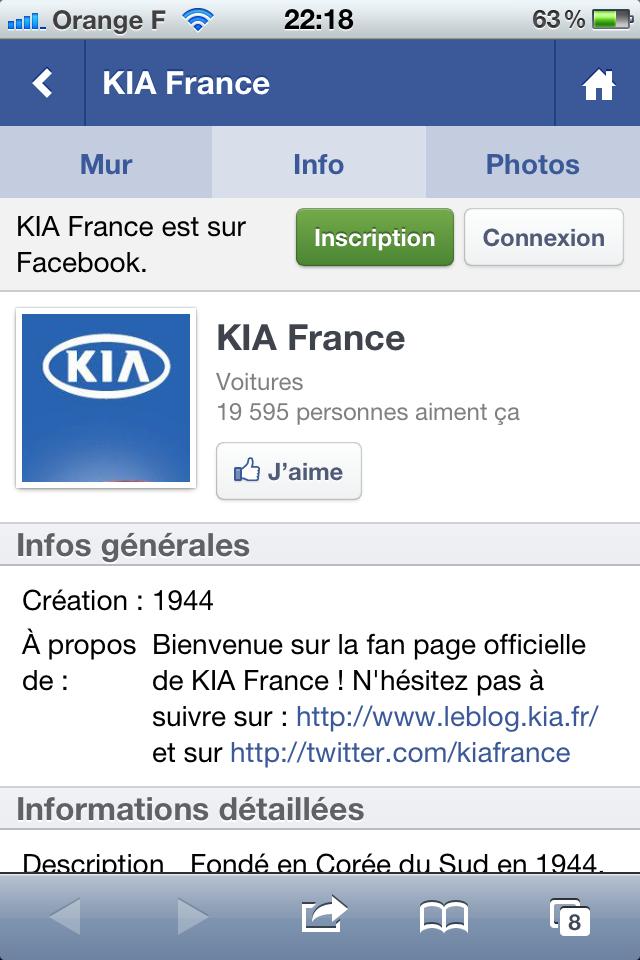 Kia site mobile