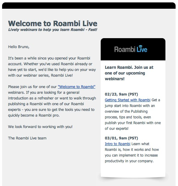 Learn Roambi Fast —Email