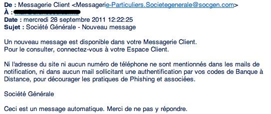 email du service client de la Societe Generale