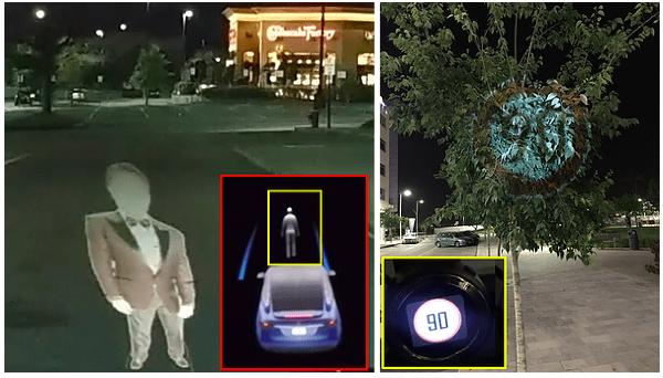 L'Autopilot de Tesla piraté avec un simple drone et un projecteur