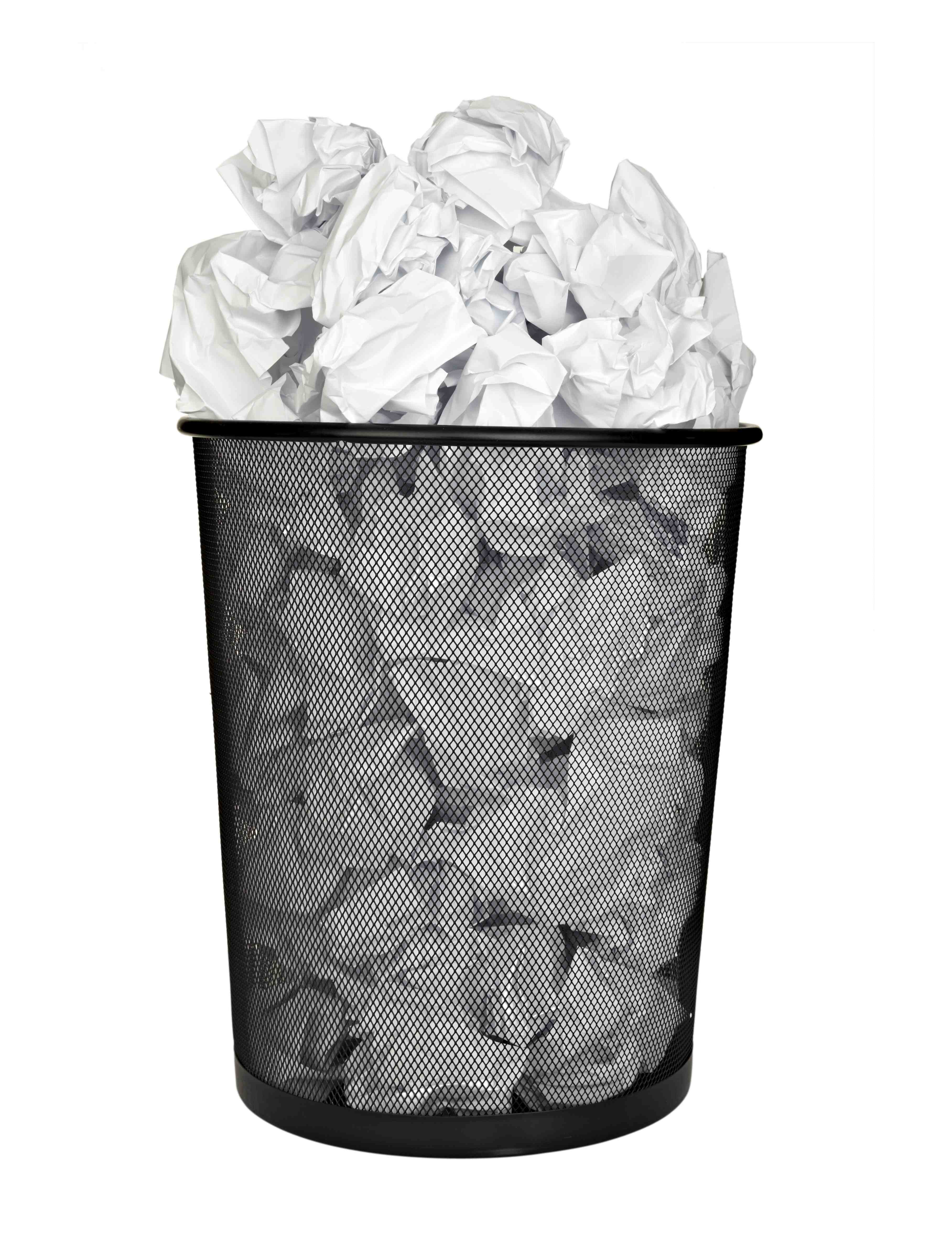 paper ball waste paper bin office business